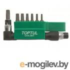 Набор бит TORX 1/4 Т10-Т40 30мм 8шт TOPTUL GAAL0801