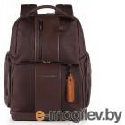 Рюкзак Piquadro Brief CA4439BRBM/TM темно-коричневый натур.кожа/ткань
