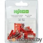 Wago 2273-244 Клемма 4-проводная (0,5-2,5 кв.мм) с пастой красная