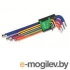 Набор ключей шестигр. 1,5-10мм 9шт длинн. цветные TOPTUL GAAL0918