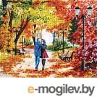 Набор для вышивания БЕЛОСНЕЖКА Осенний парк, скамейка, двое / 9042-CM