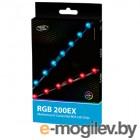 Светодиодная лента Deepcool RGB 200EX (комплект цветового дооснащения корпуса, 2 ленты по 350mm, RGB, подключение 4pin (+12V-R-G-B)) Color Box