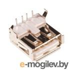 USBA-1J, разъем USB на плату, тип А белый