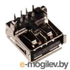 USBA-1J, разъем USB на плату, тип А черный
