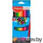 Карандаши цветные Maped Color`Peps 183212 трехгранные липа 12цв.