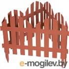 Забор декоративный Palisad Романтика 65025 (терракот)