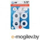 Унив. комплект для монтажа алюминиевых и биметаллических радиаторов 1 1/2, AV Engineering
