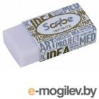 Ластик Deli EH00510 20x10x40мм белый индивидуальная картонная упаковка