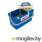 Ванночка для мытья керамики SIGMA (56х29х30см, 3 ролика, колеса, рукоятка, губка 30х14х3см) 047M7