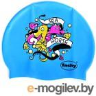 Шапочка для плавания Fashy Childrens Silicone Cap / 3047-00-75 (морской конек/ярко-голубой)