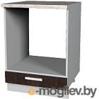 Шкаф под духовку Интерлиния Мила Лайт НШ60д (дуб венге)