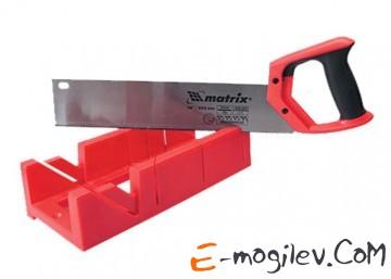 Стусло, 300 х 100 мм, пластиковое + обушковая пила, 350 мм, двухкомпонентная рукоятка// MATRIX. 22550
