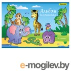 Альбом для рисования Silwerhof 911105-14 8л. A4 Африка 2диз. картон скрепка