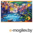 Альбом для рисования Silwerhof 911111-74 40л. A4 Венеция 2диз. картон скрепка