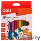 Восковые мелки Deli EC20000 Color Emotion трехгранные 12цв. картон.кор./европод.