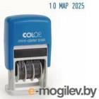 Датер Colop S 120/BL BANK пластик автоматический 1стр. мес.:цифровое синий шир.:3.8мм выс.:1.9мм