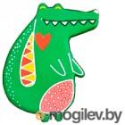 Магнит декоративный Нашы майстры Крокодильчик / 2123 (декорированный)