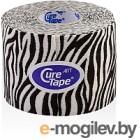 Кинезио тейп CureTape Art Zebra 163180 (белый/черный)