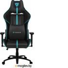 ThunderX3 BC5-BC black/cyan Игровое кресло (AIR Tech, экокожа, регулируемый угол наклона, механизм качания)