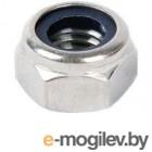 Гайка М6 шестигр. со стопорным кольцом, нерж.сталь (А2), DIN 985 (500 шт в карт. уп.) (STARFIX)