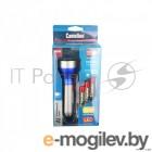 фонарь Camelion LED51518 (титан,  LED 3W + 3W COB, 2 реж. 3XLR03 в компл., алюм.,откр. блистер)