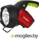 фонарь Camelion LED56334 (аккум., карбон, 3W  CREE+12LED+12redLED, 5В 4А-ч, пластик, коробка)