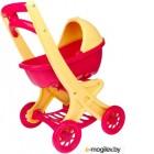 Коляска для куклы Doloni Прогулочная / 0122/03 (молочный/красный)