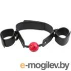 Кляп-шар Pipedream Breathable Ball Gag Restraint / 22081 (с наручниками)