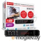 Ресивер DVB-T2 D-Color DC937HD {Sunplus 1509C, DVB-T2 Пластик, RCA, HDMI, USB, WI Fi (Опция), LED-дисплей, Внешний БП (5V)