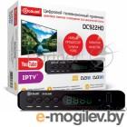 Ресивер DVB-T2 D-Color DC922HD {Sunplus 1509C, DVB-T2 Пластик, RCA, HDMI, USB, WI Fi (Опция), LED-дисплей, Внешний БП (5V)