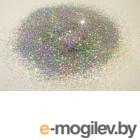 Блестки для жидких обоев Bioplast Глиттер М49 (10г, серебристый)