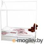 Односпальная кровать Можга Домик Р424 (белый)