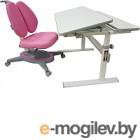 Парта+стул Растущая мебель Picasso E201 + Smart DUO MC204 (розовый)
