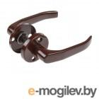 Ручка дверная LENOX на круглой планке 50мм (коричневый) (JANIA)