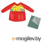 Набор для уроков труда Юнландия клеенка ПВХ 40х69см + фартук-накидка с рукавами Red 228356