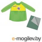Набор для уроков труда Юнландия Клеенка ПВХ 40х69см + фартук-накидка с рукавами Green 228357