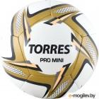 Футбольный мяч Torres Pro Mini / F31910 (белый/черный/золотой)
