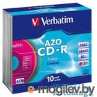 Диск CD-R 700Mb Verbatim 52x  Slim DL+, 10шт, Vinyl 43426