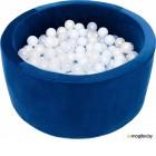Игровой сухой бассейн Misioo 90x40 200 шаров (темно-синий, вельвет)