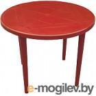 Стол пластиковый Стандарт Пластик Групп Круглый 90 (красный)