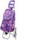 Сумка-тележка Perfecto Linea 42-307010 (фиолетовый, цветы)