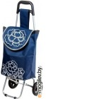 Сумка-тележка Perfecto Linea 42-661010 (синий, цветок)