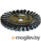 Кордщетка ЭНКОР 51584  для УШМ ф22.2мм 125мм дисковая сталь витая