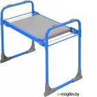 Скамейка садовая с мягким сиденьем НИКА СКМ (СКМ/Г голубой)