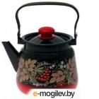 Чайник СтальЭмаль С2716.38 (красный/черный)