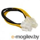 Удлинитель кабеля питания материнской платы +12V  8M-8F , 20см