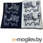Одеяло Klippan Коты серые 70x100 (шерсть)