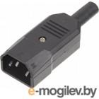 Вилка Lanmaster LAN-IEC-320-C14/90 угловая