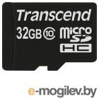 Карта памяти Transcend microSDHC (Class 10) 32Gb (TS32GUSDC10)