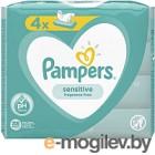 Влажные салфетки Pampers Sensitive (4x52шт)
